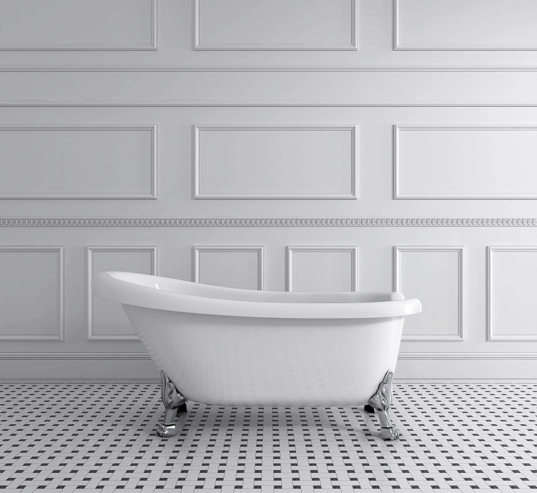 Acritec #43191 Victorian Claw Foot Bathtub - Baths By Design