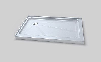Teago #ABR3660L Double Threshold Shower Base